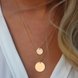 3 for $20 Gracie Coin Layered Necklace